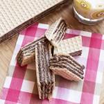 Wafel z kremem czekoladowym